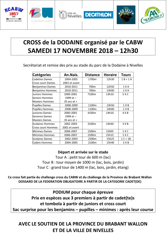 horaire 2018