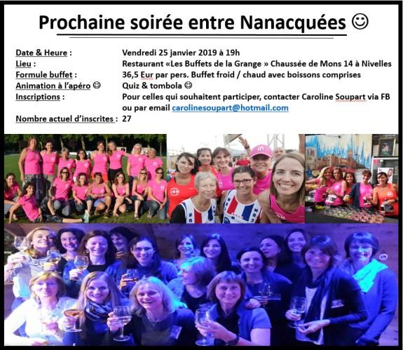 Affiche NAC pour soiree nanacquees du 25 01 2019