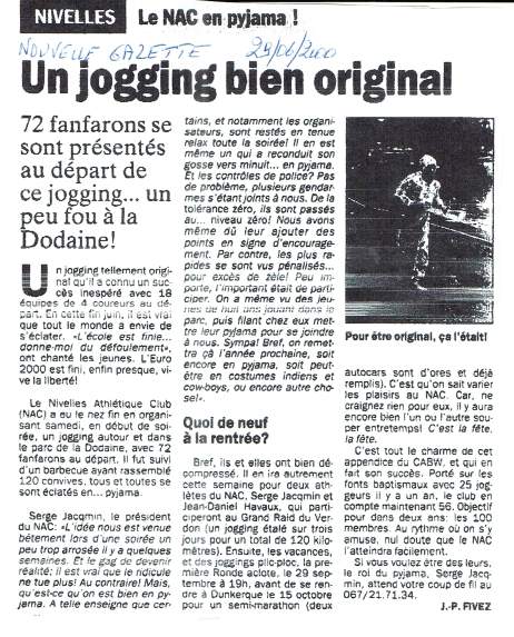 2000.06.29 Le NAC en Pijama Nouvelle Gazette