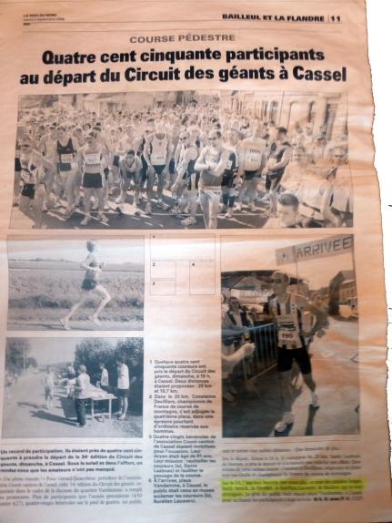 2008.09.02 La voix du Nord Déplacement Nac à Cassel