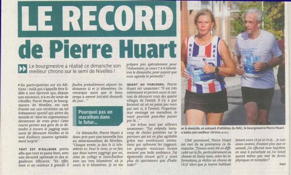 2018.11.19 Le record de Pierre Huart . L'Avenir