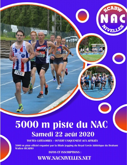 AFFICHE 5000 m NAC 2020